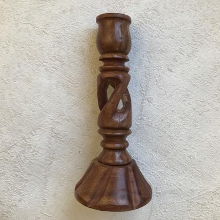 Подсвечник деревянный витой