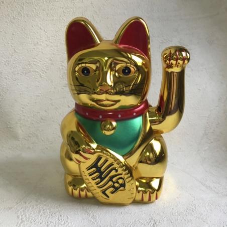 Кот Удачи Манэки-нэко золотой
