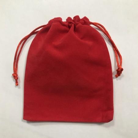 Мешочек красный бархатный 12 х 15 см.
