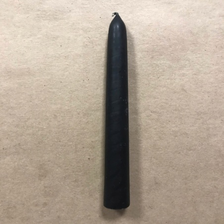 Свеча натуральная восковая 15 см черная