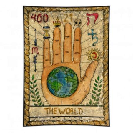 Гобелен Таро - The World (рука)