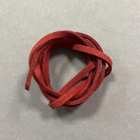 Шнурок для амулета замшевый красный