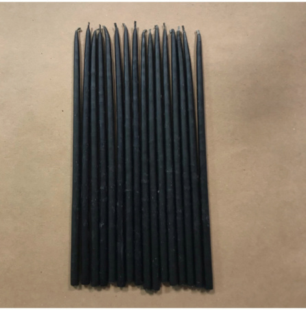 Свеча 18 см восковая черная (35мин.)