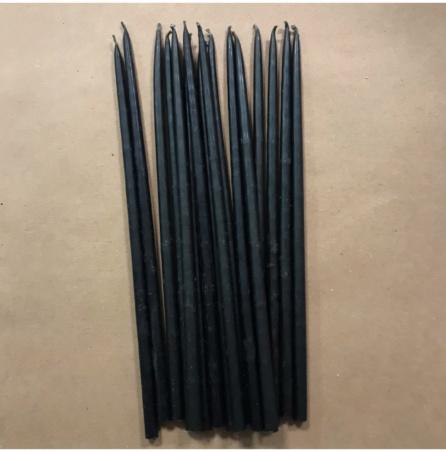 Свеча 22 см восковая черная