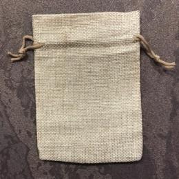 Мешочек из холста 13,5 Х 9,5 см коричневый
