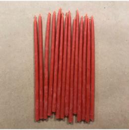 Свеча 15 см восковая красная