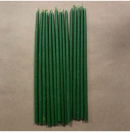 Свеча 18 см восковая зеленая