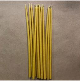 Свеча 18 см восковая желтая