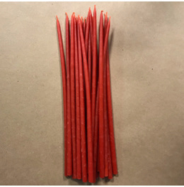 Свеча 26 см восковая красная