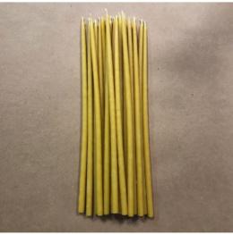 Свеча 26 см восковая желтая