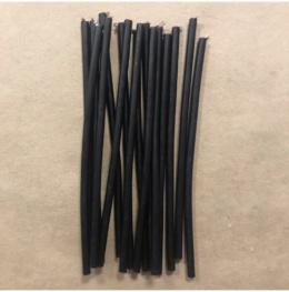 Свеча 15,5 см черная из мервы