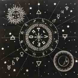 Бархатная скатерть для Таро 12 созвездий 49 х49