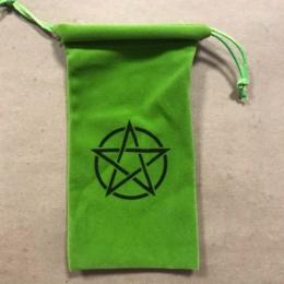Мешочек для таро Пентакль (зеленый)