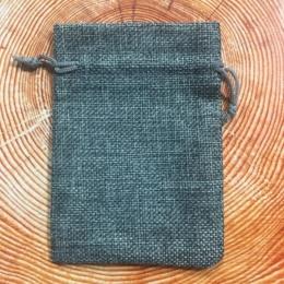 Мешочек из холста 13,5 Х 9,5 см серый