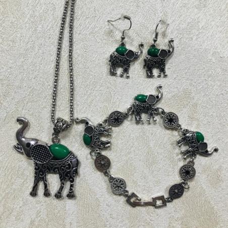 Набор бижутерии Слоны
