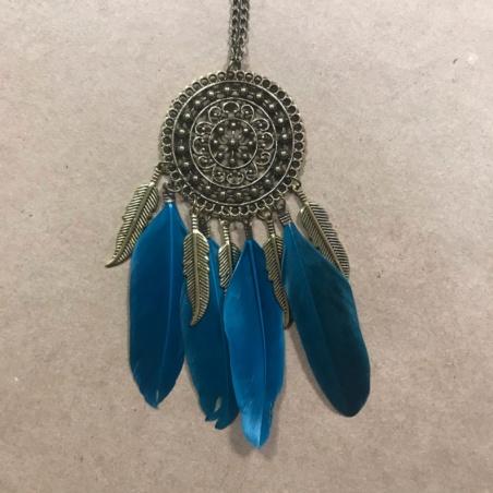 Индейский талисман с синими перьями