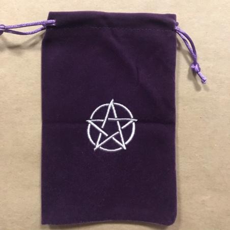 Мешочек для Таро Пентакль (фиолетовый)