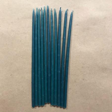 Свеча 18 см восковая синяя