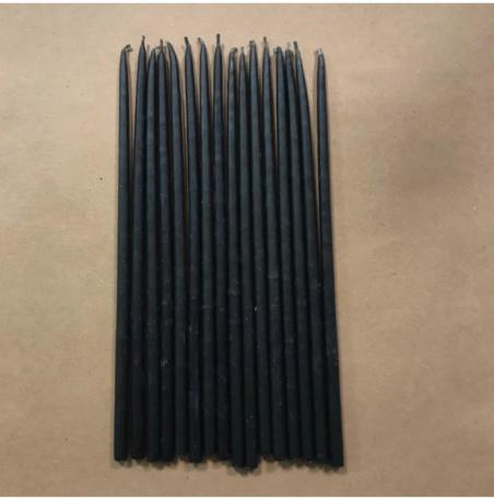 Свеча 18 см восковая черная